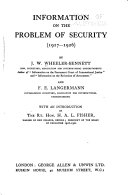 Information on the Problem of Security  1917 1926
