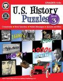 U S  History Puzzles  Book 3  Grades 5   8