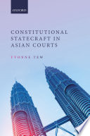 Constitutional Statecraft in Asian Courts