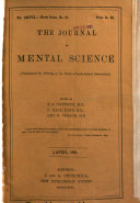 The Journal of Mental Science