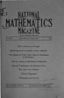 National Mathematics Magazine