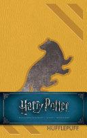 Harry Potter  Hufflepuff Hardcover Ruled Journal