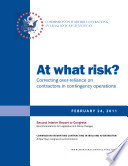 At What Risk Correcting Over Reliance On Contractors In Contingency Operations Book PDF