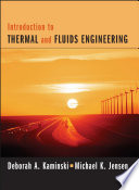Introduction To Thermal And Fluids Engineering Book PDF