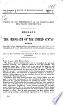 United States Membership In An Organization For Trade Cooperation