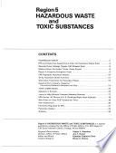 Region 5 Hazardous Waste And Toxic Substances Book PDF