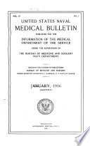 United States naval medical bulletin. v. 10, 1916