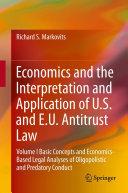 Economics and the Interpretation and Application of U.S. and E.U. Antitrust Law [Pdf/ePub] eBook