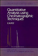 Quantitative Analysis Using Chromatographic Techniques