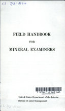 Handbook for Minerals Examiners