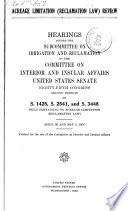 Acreage Limitation Reclamation Law Review