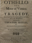 Othello  the Moor of Venice