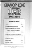 Gramophone Compact Disc Digital Audio Guide and Catalogue Book