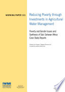 Reducing Poverty through Investments in Agricultural Water Management