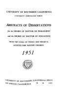 Abstracts of Dissertations