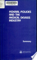 Federal Policies and the Medical Devices Industry