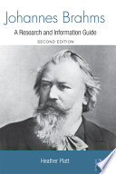 Johannes brahms a research and information guide heather anne front cover fandeluxe
