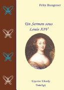 Pdf Un Sermon sous Louis XIV Telecharger