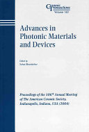 Advances In Photonic Materials And Devices Book PDF