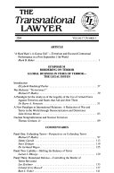 The transnational lawyer