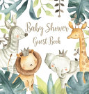 Safari Baby Shower Guest Book Hardcover  Book PDF