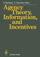 Agency Theory, Information, and Incentives Pdf/ePub eBook