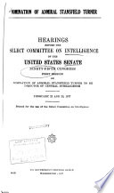 Hearings Reports And Prints Of The Senate Select Committee On Intelligence