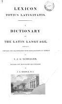 Lexicon Totius Latinitatis Book PDF