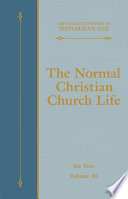 The Normal Christian Church Life Book