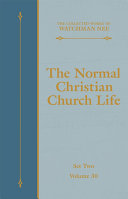 The Normal Christian Church Life [Pdf/ePub] eBook