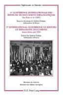 8e conférence internationale des éditeurs de documents diplomatiques