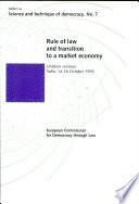 Rule Of Law And Transition To A Market Economy