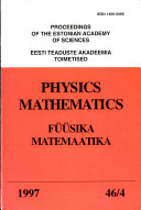 Proceedings of the Estonian Academy of Sciences  Physics and Mathematics