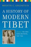 A History of Modern Tibet, Volume 2