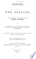 The Statutes of New Zealand