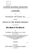 Letters to Charles Butler, Esq