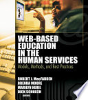 Web Based Education in the Human Services Book PDF