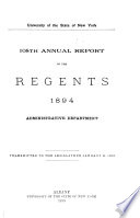 Annual Report of the Regents Book