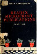 Readex Microprint Publications, 1950-1960