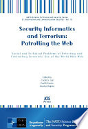Security Informatics And Terrorism Patrolling The Web Book PDF