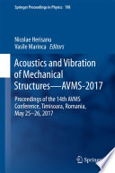 Acoustics and Vibration of Mechanical Structures   AVMS 2017