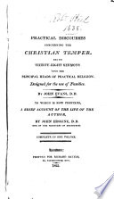 Practical Discourses Concerning the Christian Temper