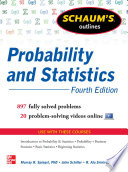 Schaum s Outline of Probability and Statistics  4th Edition Book