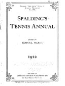 Spalding s Tennis Annual