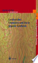 Lanthanides  Chemistry and Use in Organic Synthesis Book