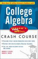 Schaum s Easy Outline of College Algebra