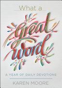 What a Great Word! Pdf/ePub eBook