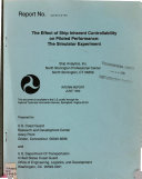 The Effect of Ship Inherent Controllability on Piloted Performance Book