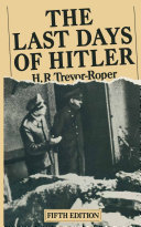 Pdf The Last Days of Hitler Telecharger