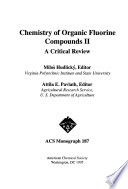 Chemistry of Organic Fluorine Compounds